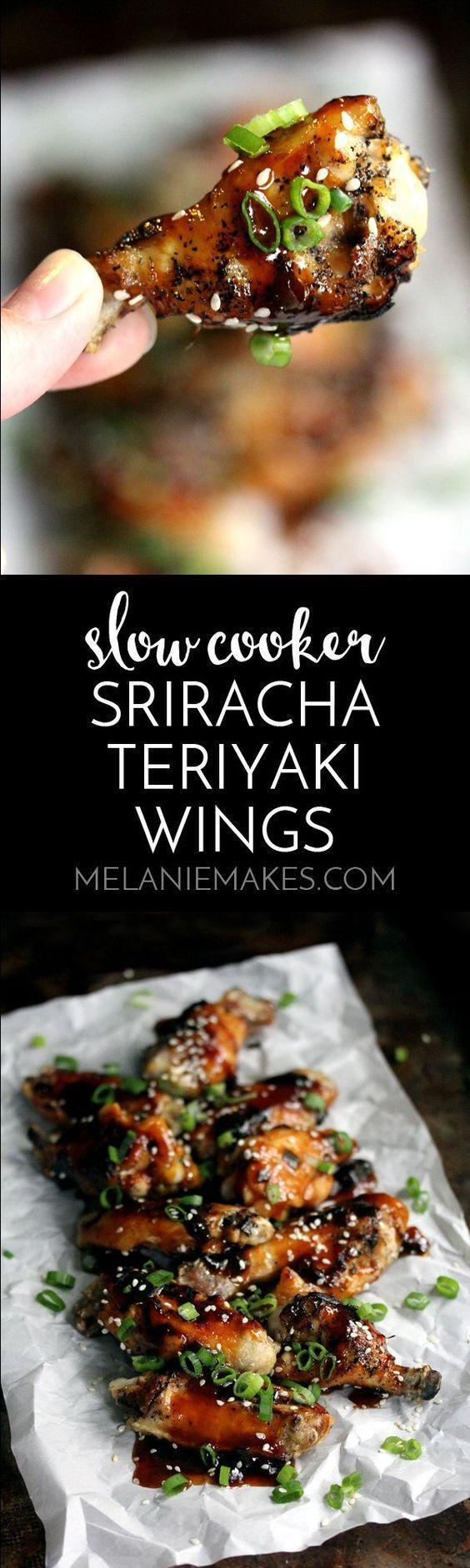 Hochzeit - Slow Cooker Sriracha Teriyaki Wings