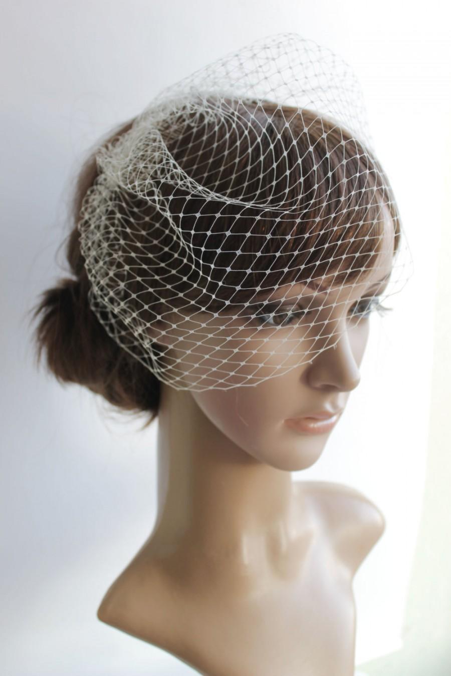 Свадьба - Mini Birdcage Veil, White birdcage veil, Ivory birdcage veil,  Bird Cage Veil, 9 inch veil