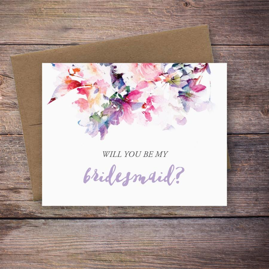 It is an image of Divine Will You Be My Bridesmaid Cards Printable