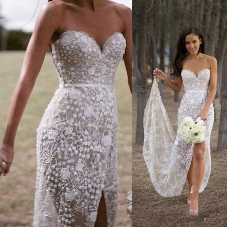 Elegant Sweetheart Mermaid Wedding Dress Bridal Gown With Appliques