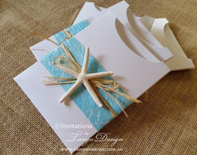 Hawaii Wedding Invitations W Starfish And Travel Info Card X24