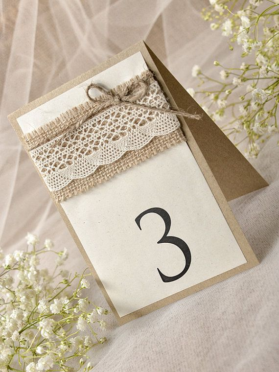 Lace Rustic Wedding Table Number (5), Rustic Wedding Table Numbers ...