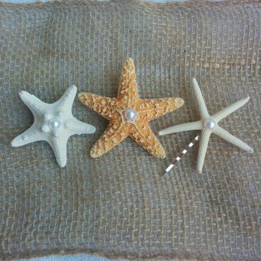 Mariage - Starfish Hair Clips, Starfish Hair Pins, Starfish Hair Accessories - Beach Hair, Mermaid Hair