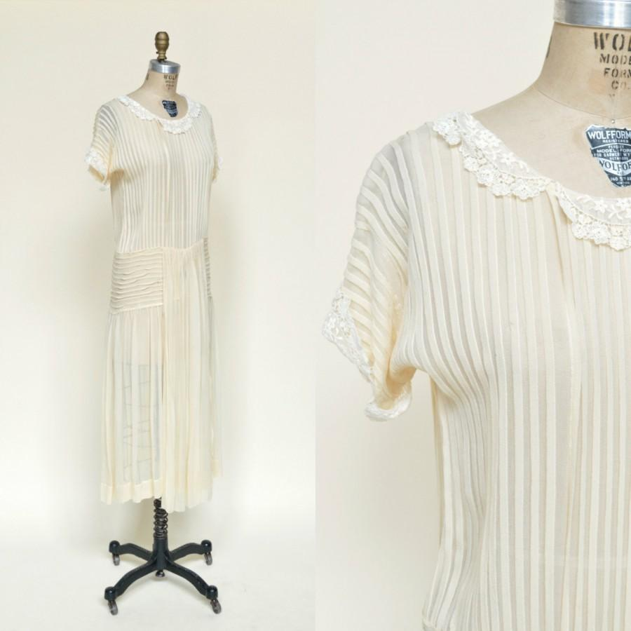 Свадьба - 1920s Wedding Dress --- Vintage Silk Dress