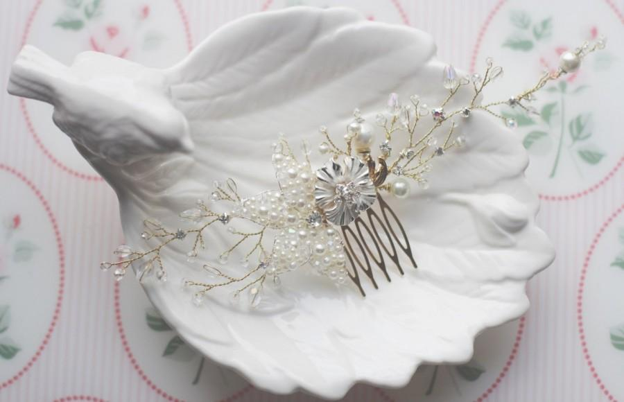 Mariage - Bridal Hair Comb Wedding Hair Comb Decorative Comb Bridal Hair Accessory Bridal Haircomb