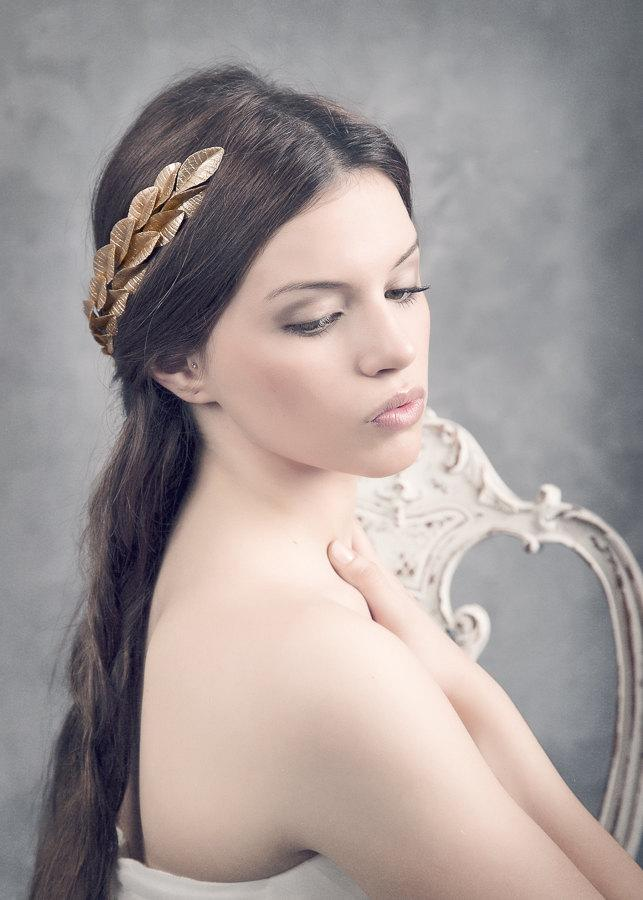 Mariage - Grecian headpiece. Gold leaves headpiece. Bridal headpiece. Gold leaves crown. Grecian crown. MOD519 bridal Crown