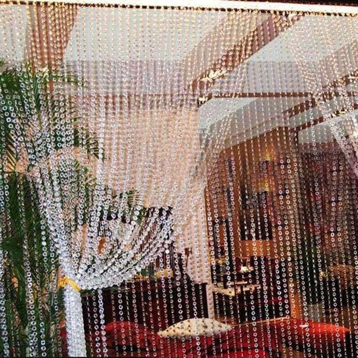 زفاف - 99FT 30 M Octogonal Contas De Cristal Acrílico Iridescent Garland Strand Shimmer Cortina Decoração De Casamento Festa E5M1 Em Decoração De Festa De Casa & Jardim No AliExpress.com