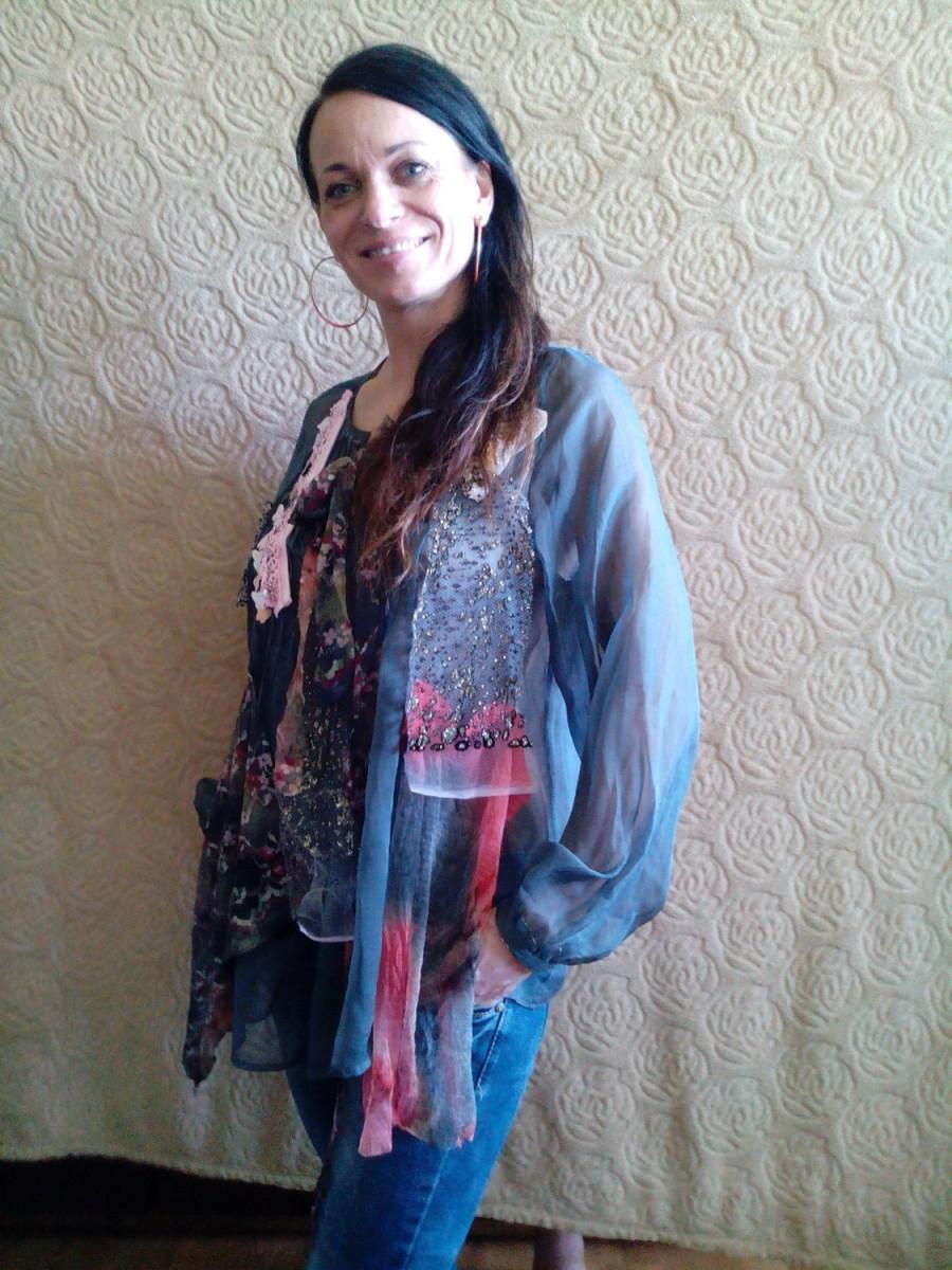 Свадьба - Sale 20% off/Wearable art/hand beaded/shabby chic/size 36-38/ooak/tattered/fairy romantic/ecofriendly/gipsy/to Wear tunic BASKET/Boho/Hippie