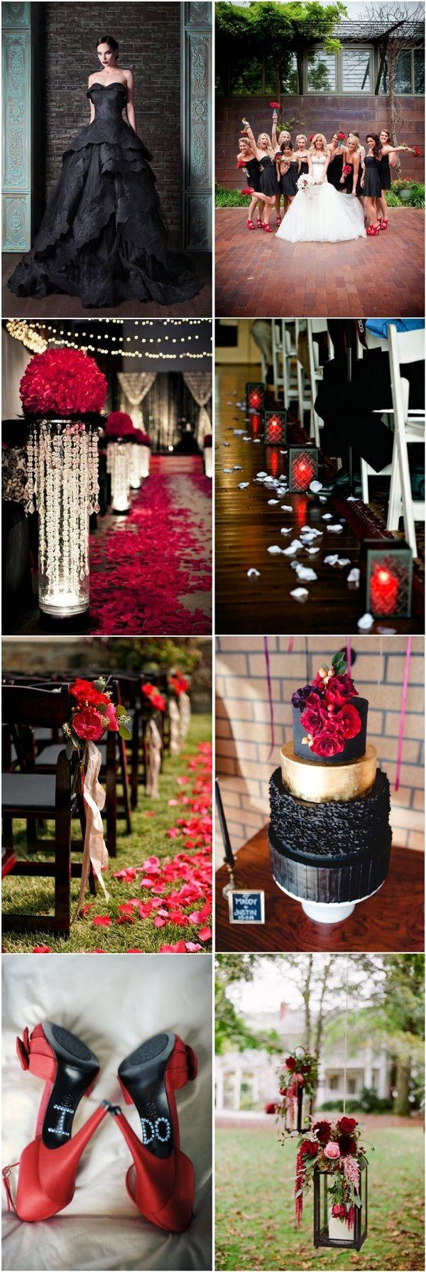 Свадьба - 35  Red And Black Vampire Halloween Wedding Ideas
