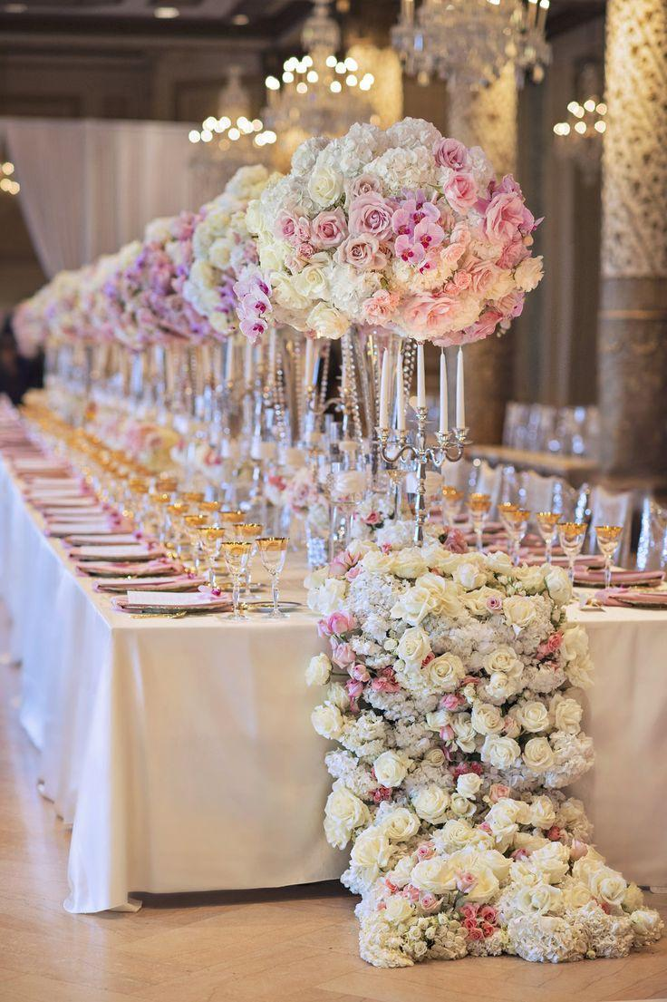 زفاف - Long Reception Table Decor