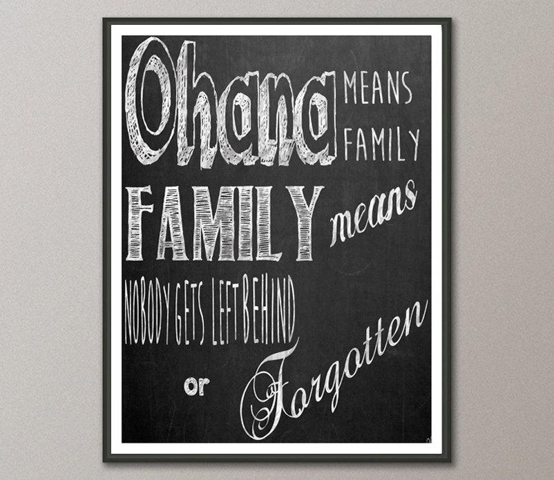 Ohana Means Family Quote