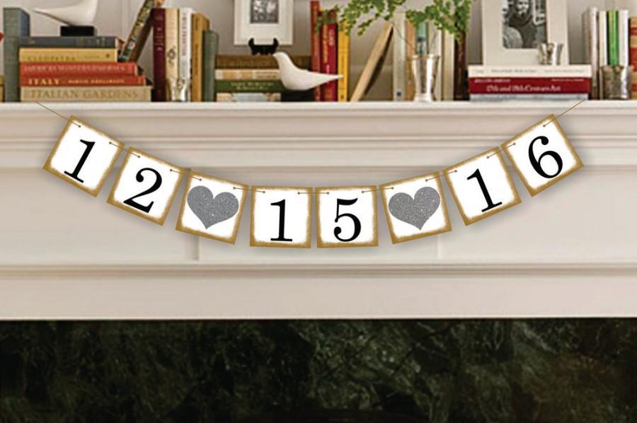 Свадьба - Wedding Decoration  - Save The Date - Wedding Banner - Sign - Garland - Wedding Photo Prop