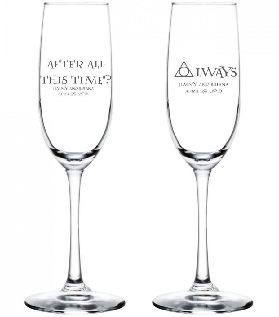 Свадьба - After All This Time?  Always Personalized Flutes - Harry Potter Wedding