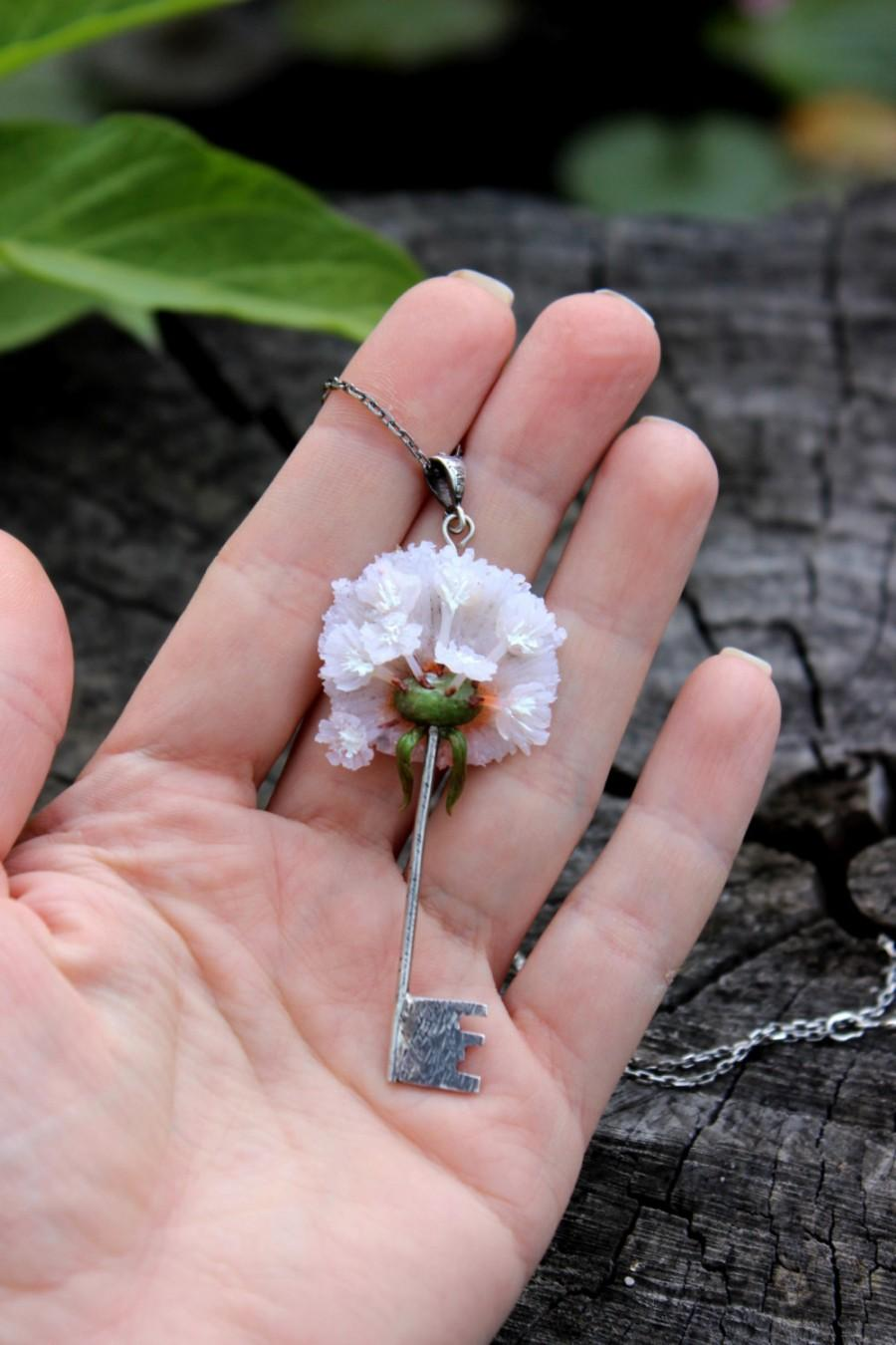 White Blowball Jewelry. Silver Marine Pendant With The Chain. Summer ...