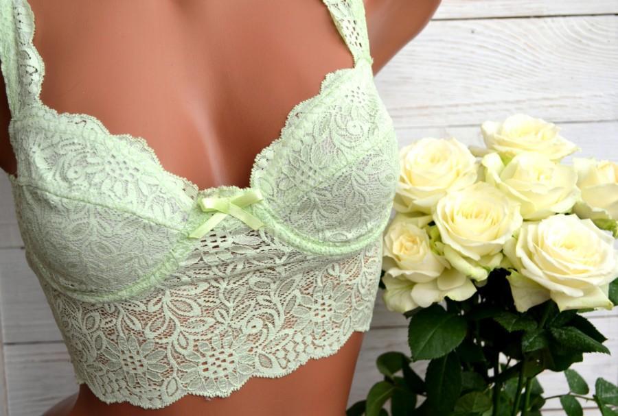 40d70a0d70784 Floral lace bralette  Bustier Top  Lace bra  Boho lingerie