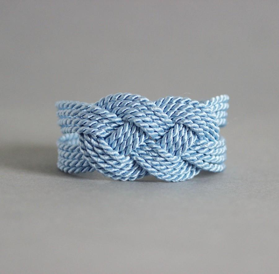 Mariage - Light Blue Knot Bracelet, Knot bracelet, Blue Rope Bracelet, Nautical Bracelet, Nautical Jewelry, Rope Knot Bracelet,Infinity Knot Bracelet