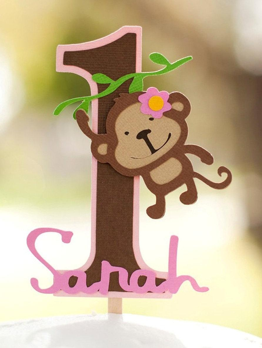 Monkey Jungle Cake Topper