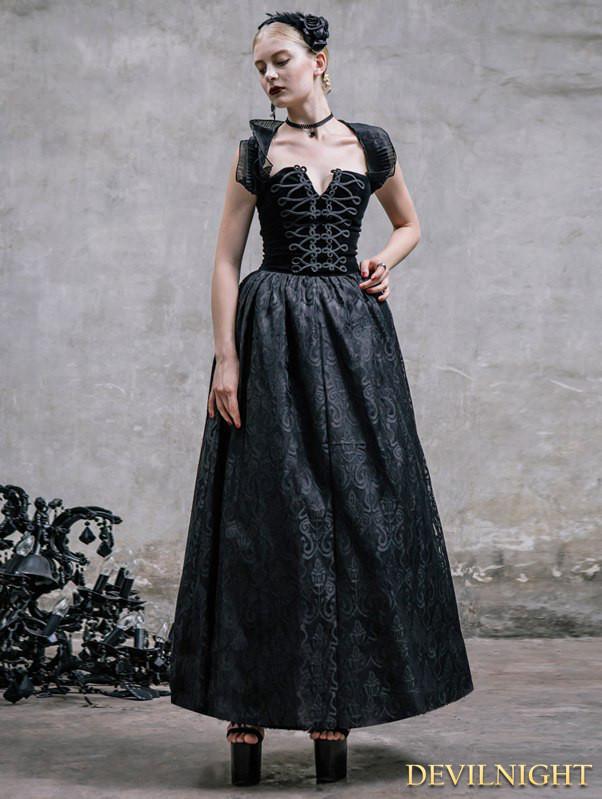 Romantic Black Gothic Halter Corset Prom Dress 2540097 Weddbook