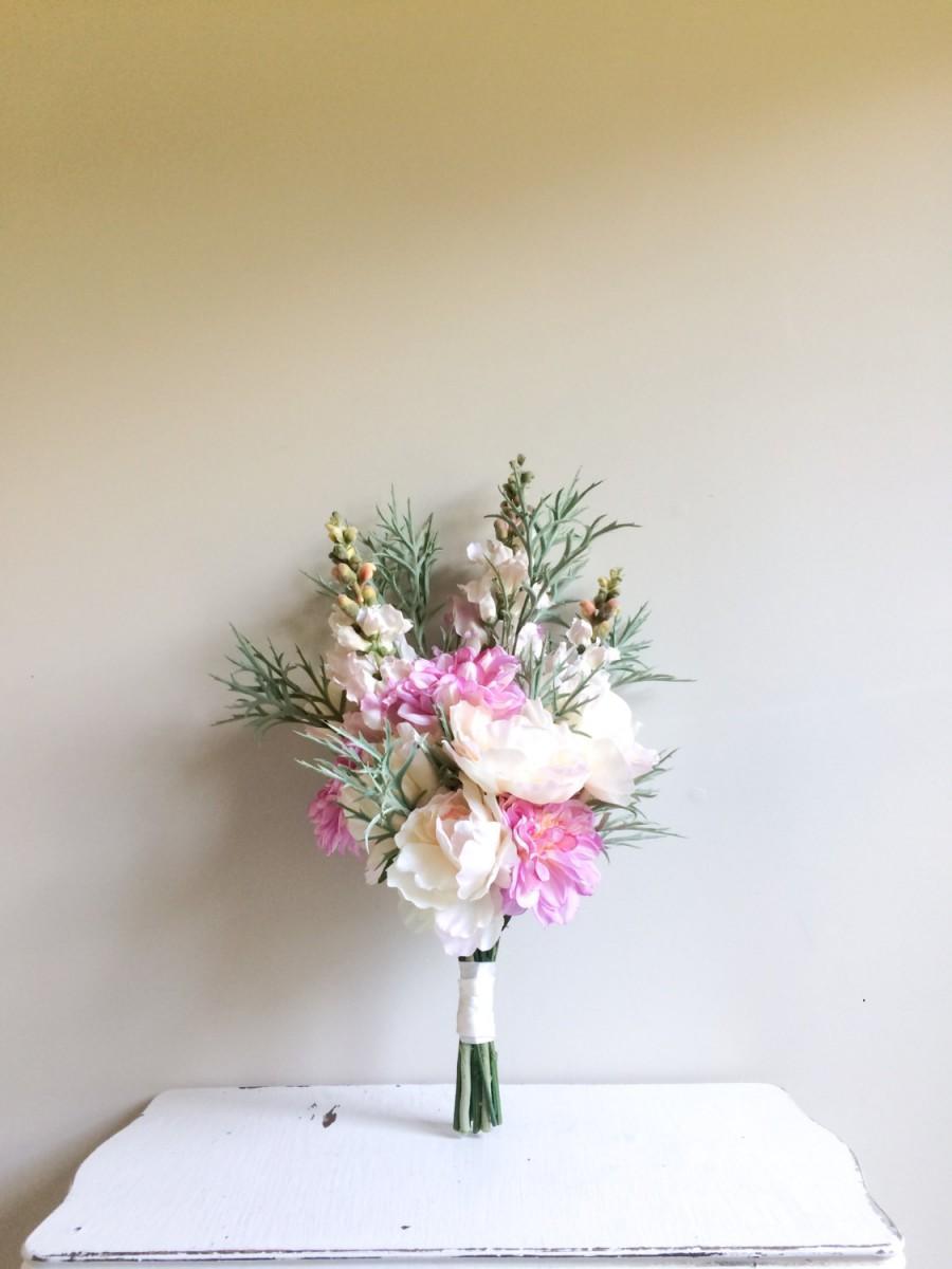 silk bridal bouquet silk floral bouquet pink bridal bouquet bridal bouquet garden bouquet silk wedding bouquet peony bouquet