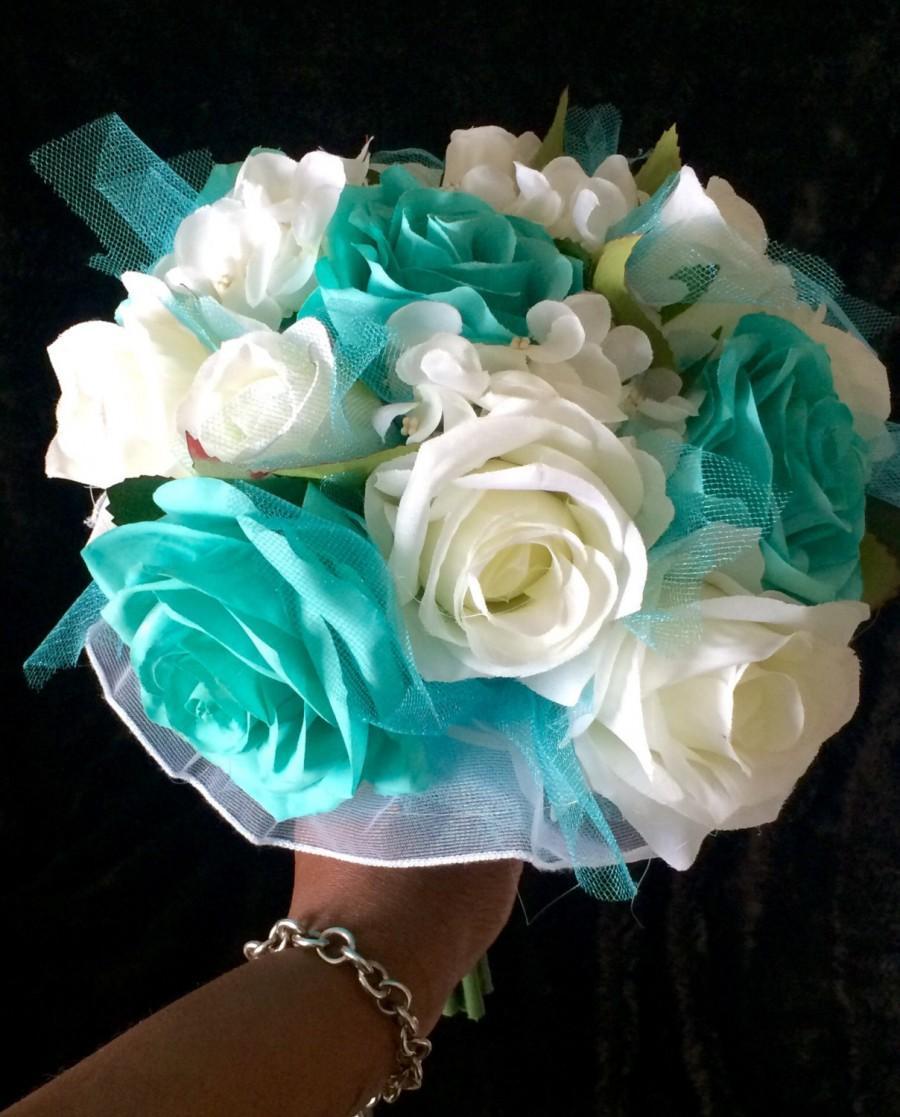 Wedding Bouquet, Bride Bouquet, Something Blue, Bridesmaid Bouquet ...