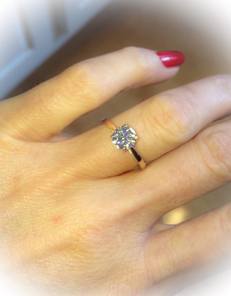 زفاف - Forever One Moissanite Engagement Ring BLOOMED LOVE Collection Round 1.0ct Center 14kt Rose Gold Ring Wedding Ring Anniversary Rose Gold