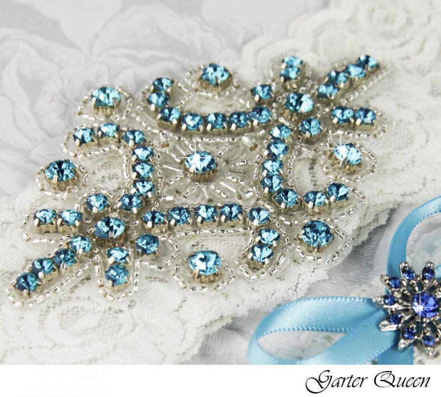 Свадьба - Ivory Lace Garter Set, Rhinestone Garter, Lace Wedding Garter Set, Ivory Bridal Garter Set, Ivory Wedding Garter, White Lace Garter