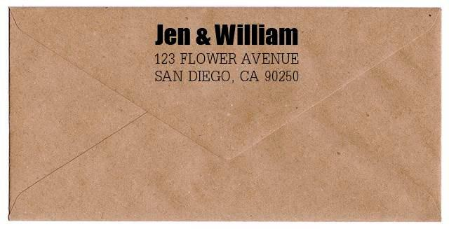 Mariage - Custom Address Stamp Return Address Stamp Wedding Invitation Stamp Wood Handle or Self Inking