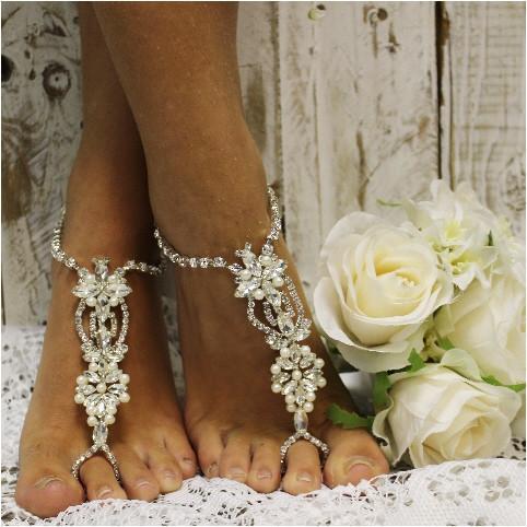 زفاف - ANGEL wedding barefoot sandals
