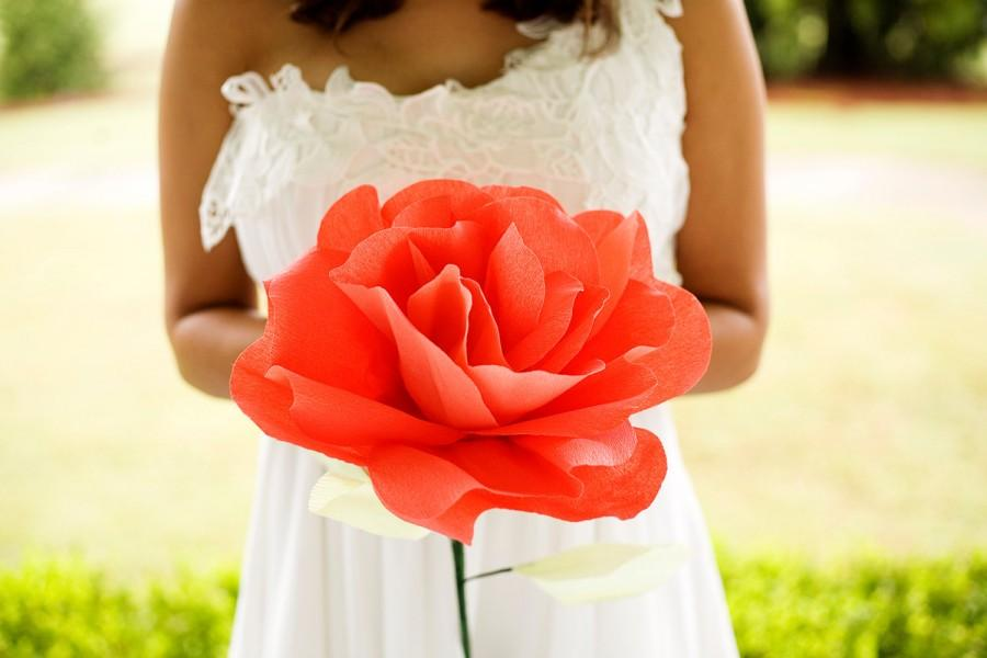 Giant paper flower giant rose large paper flower summer giant paper flower giant rose large paper flower summer wedding paper roses bridal bouquet big paper flowers mightylinksfo