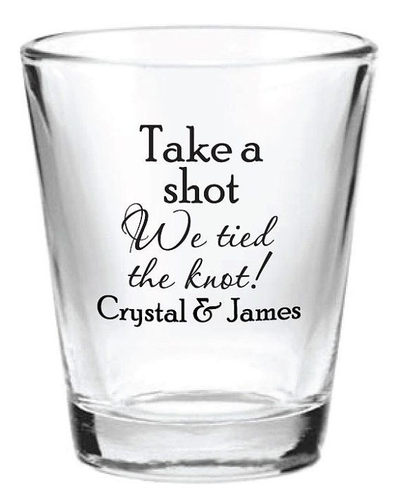 Wedding Shot Glasses.144 Custom 1 5oz Wedding Favor Glass Shot Glasses