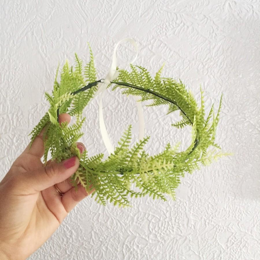 Light Green Fern Flower Crown Flower Crown Photoshoot Flowers