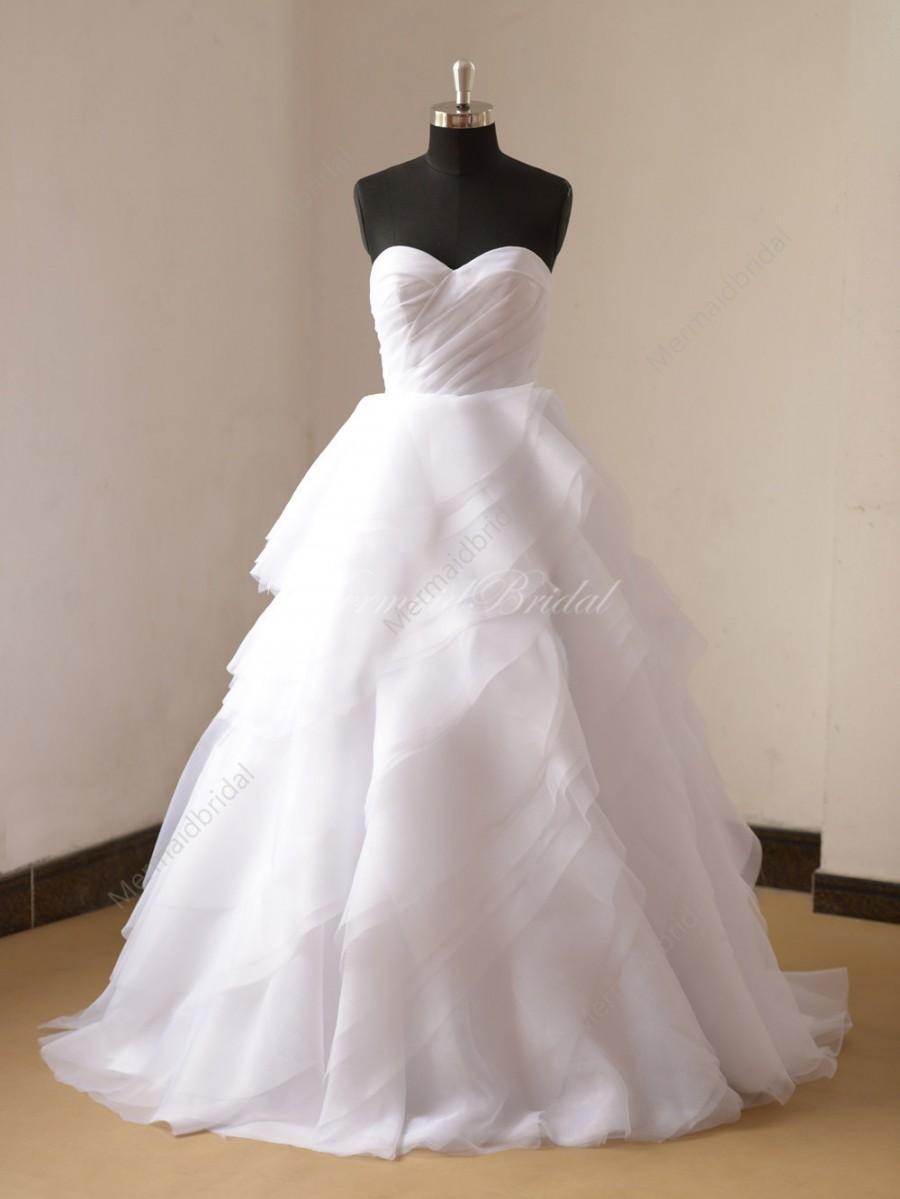 Wedding - Romantic white organza wedding dress