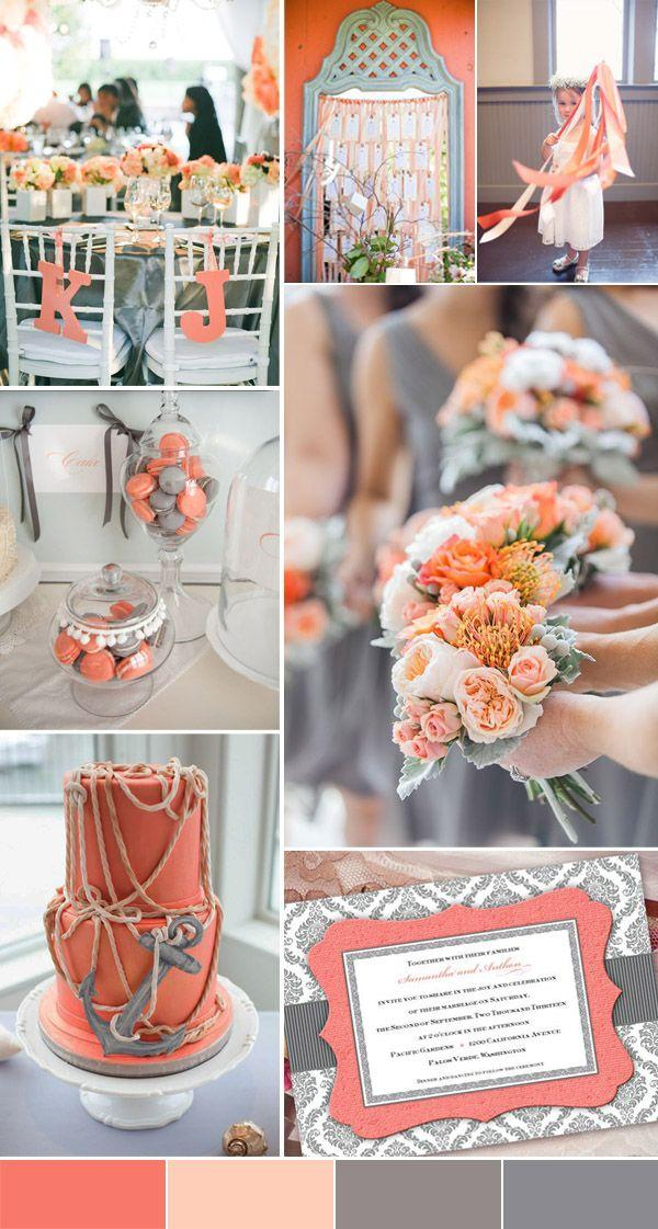 Wedding - 2016 Spring Wedding Color Trends Chapter Two:Stunning Peach Wedding Color Palettes