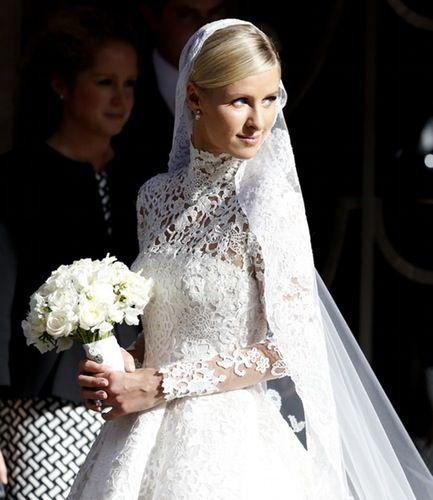 Wedding - Nicky Hilton Stuns In Long-Sleeved Lace Wedding Dress That Reminds Us Of Kate Middleton's!