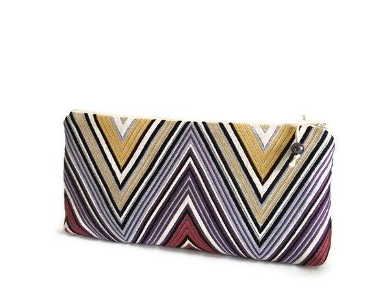 Wedding - Purple Geometric Clutch, Wedding Bridal Bag, Evening Handbag, Lavender Clutch