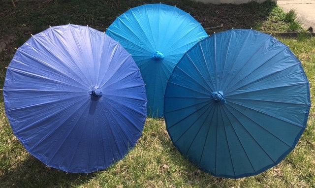 Mariage - Blue Paper Parasols for Wedding Pictures, Wedding Ceremony, Wedding Decor, Beach Wedding, Paper Umbrella, Blue, Navy Blue, Cobalt Blue