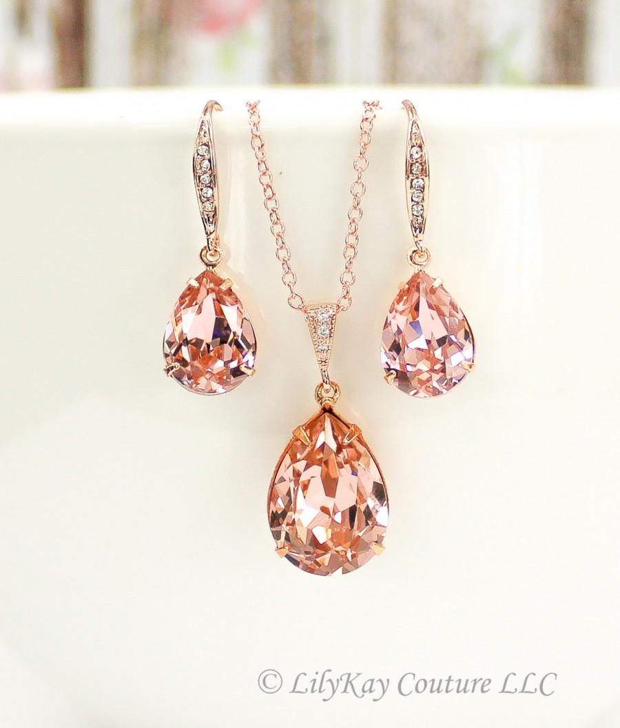 Morganite Earrings Rose Gold Earrings Blush Pink Rose Gold