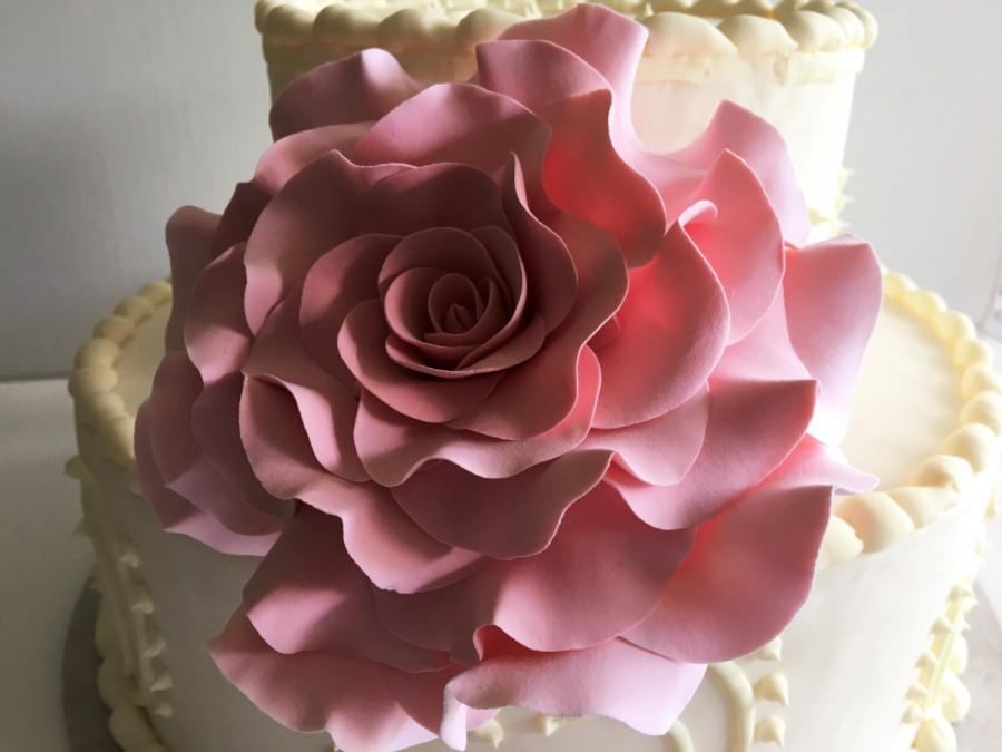 Mariage - Rose Cake Topper Wedding Cake Topper Flower Cake Design Blush Rose Cake Decor Flower Clay Flower