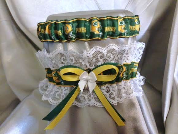 Свадьба - Green Bay Packers Garter Set