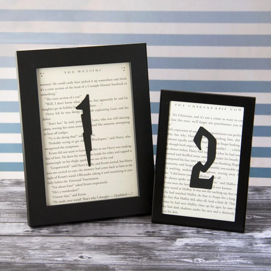Hochzeit - Harry Potter Wedding, Wedding Table Numbers, Choose Your Quantity, Book Themed Wedding, Book Table Numbers, Literary Wedding