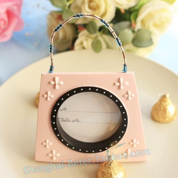 Hochzeit - Baby Baptism BETER-SZ007 Pink Handbag Place card Photo Frame