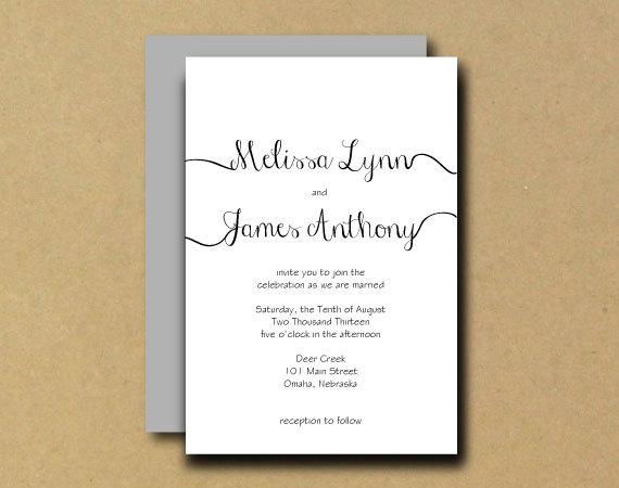 زفاف - Printable Wedding Invitation - DIY Printable Wedding Invitation Template - Lovely Handwriting - Script, Calligraphy
