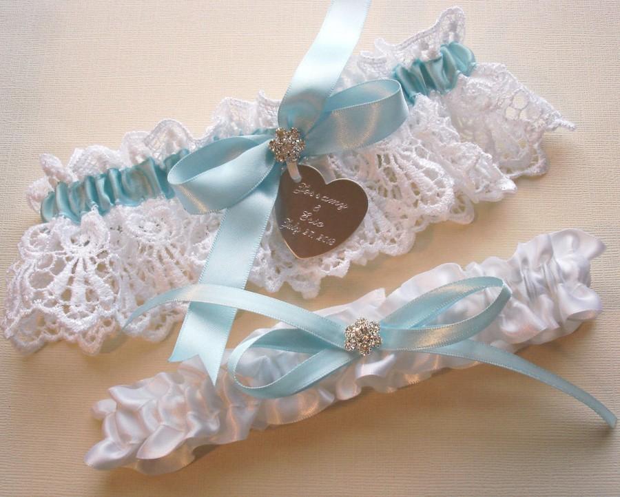 d8912f569e7 Something Blue Wedding Garter Set