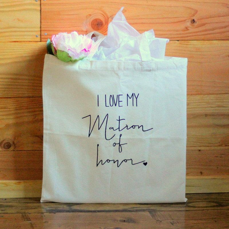 Mariage - Matron of Honor Wedding Party Gift Tote