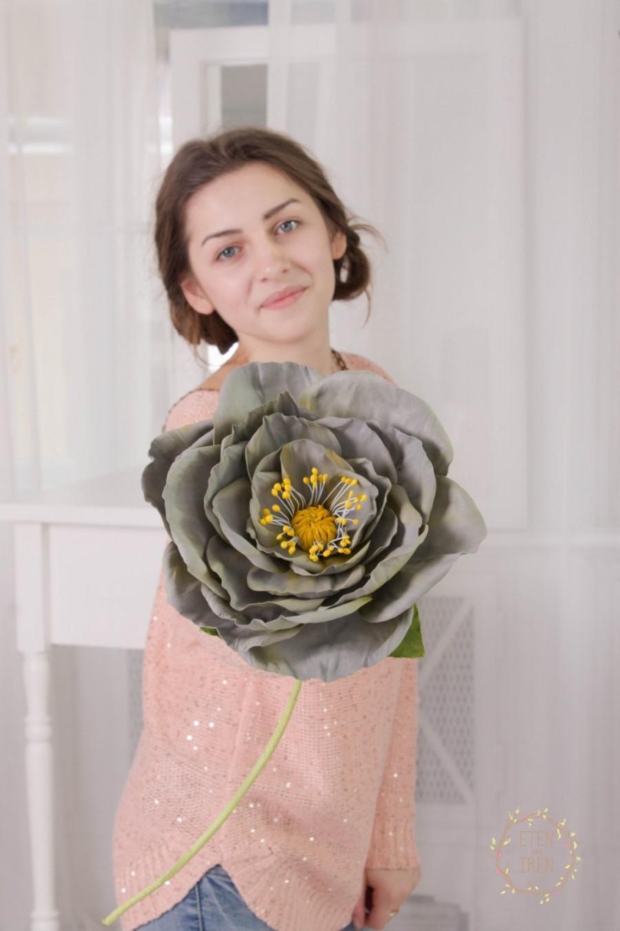 big grey rose flower decor wedding floral bouquet artificial flower house decor home decoration bridal birthday gifts