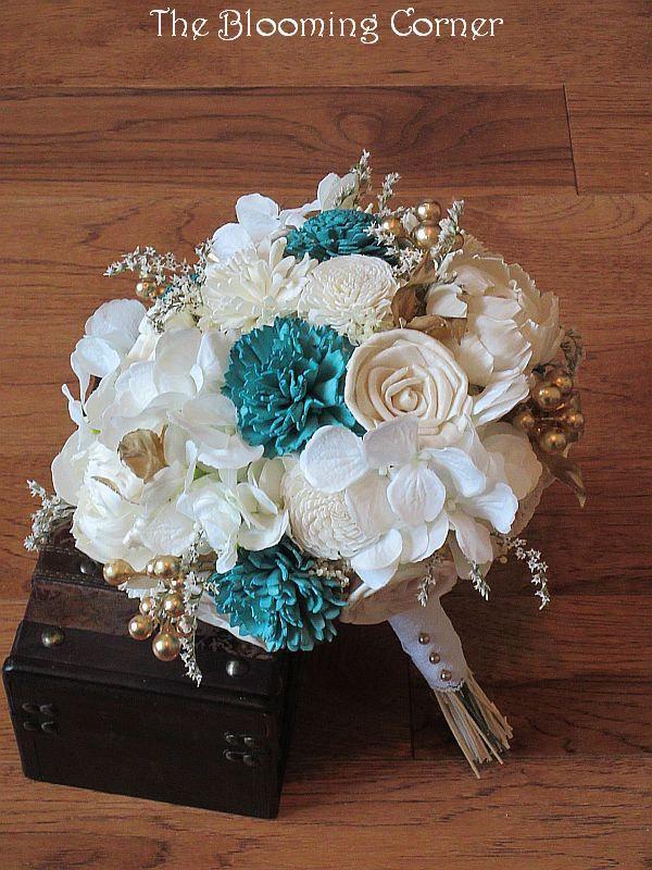 زفاف - Wedding Bouquet, Sola wood Bouquet, Burlap, bridal  Bouquet, Alternative Bouquet, bouquet, Sola flowers, Wood Bouquet