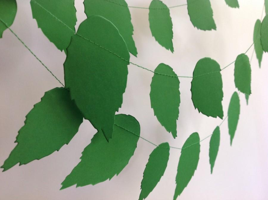 Свадьба - Paper garland Spring LEAVES/Wedding decor/Event decoration/Baby shower/Nursery decor/Party decor/Bridal shower/Themed party/Home styling