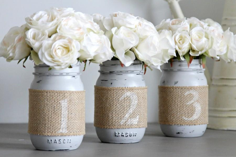 Wedding Table Numbers Rustic Wedding Decor Wedding Party