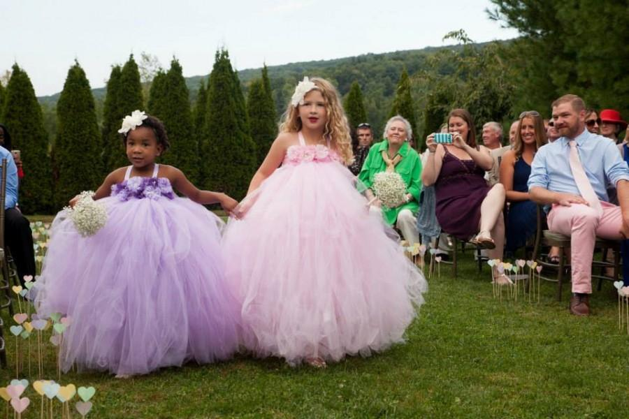 Light Pink Pale Lavender Purple Lilac Flower Tutu Dress Wedding S Dresses Gown Toddler 1t2t3t4t5t6t7t8t9t10t
