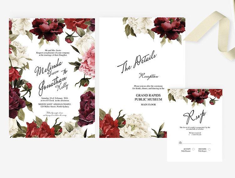 diy word template garden wedding invitation stationary 2541517 weddbook